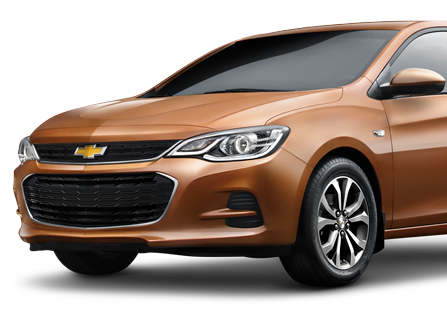 Coche Chevrolet disponible para rentar en Cancún